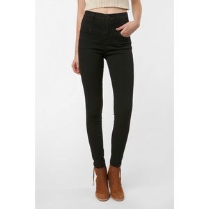 Urban Outfitters BDG Black High Rise Seamed Jean